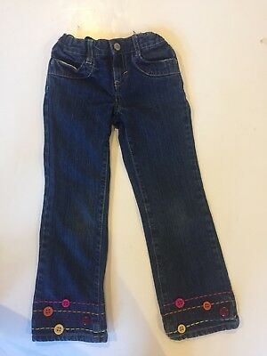 Gymboree girls Fashionable fox jeans sz 6. Cute Buttons at bottom.