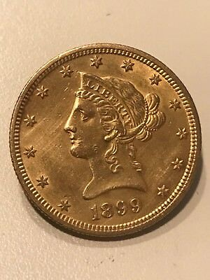 1899 $10 Liberty Head Eagle Gold Coin - Must See!