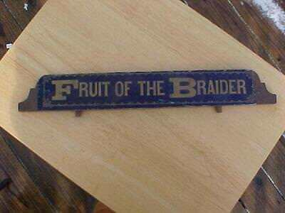 Vintage Fruit of The Braider Dispaly Topper Piece Wooden Topper Display Part