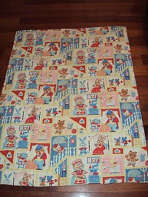 Antique Vintage Baby Quilt Hand Sewn 38 X 50