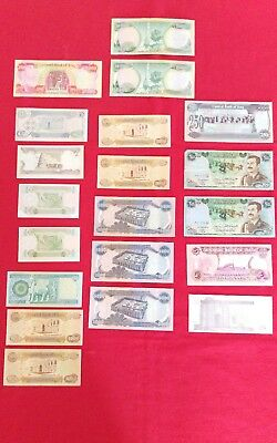 Lot Of 20 Iraq Bank Notes Various Years And Condition