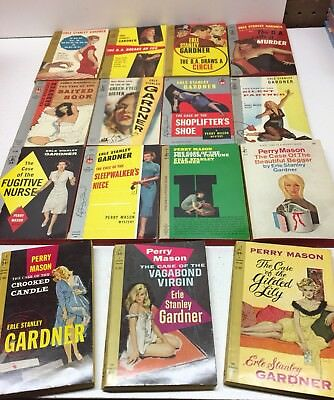 Vintage Lot of 15 Erle Stanley Gardner Pocket Books Perry Mason Doug Selby pb