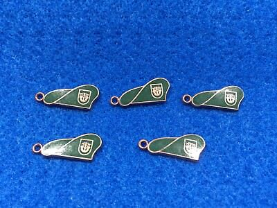 Lot of 5 1970's Vintage US Army Special Forces Green Beret Charms