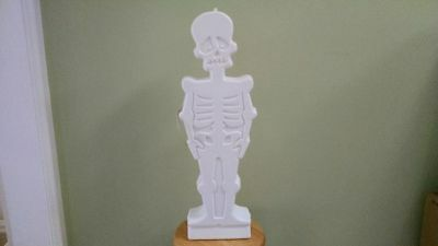 """SKELETON, 30"""" Lighted Blow Mold (electric/battery operated) Halloween Decoration"""