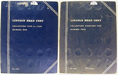 LOW RESERVE!  Nice 2-Folder Set of Lincoln Wheat & Memorial Cents 1909-1975 (#3)