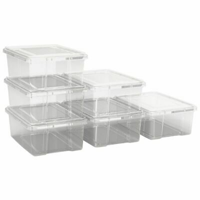 Ezy Storage 10L Storage Containers 6 Pack Clear