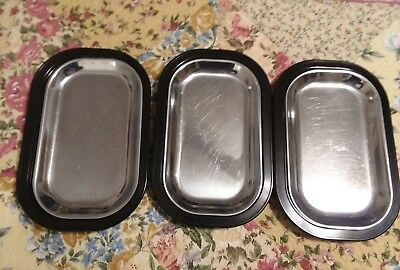 """Lot 3 Service Ideas Thermo Plate Platter 12 1/2"""" x 8"""" USA"""