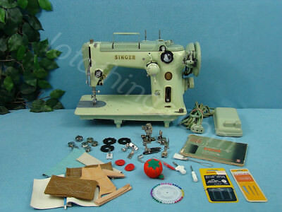 Industrial Strength Heavy Duty Singer Sewing Machine Sews Leather & Upholstery++