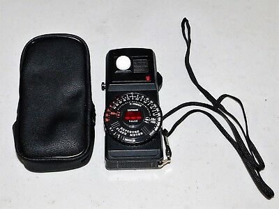 Spiratone Expotrol Exposure and flash Meter w/case Made in Japan