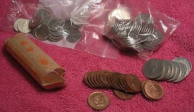 Over $24.00 face value Canadian coins