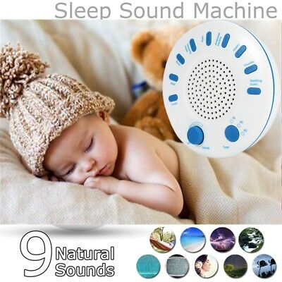 Baby Kids Sleep Soothing Relax Machine White Noise Therapy 9 Nature Sound Timer