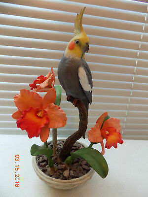 """Joyful Companion"" Cockatiel Figurine by Bob Guge (Danbury Mint)"
