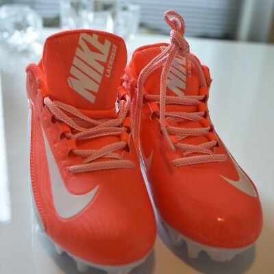New Womens Nike Speedlax Lacrosse Cleats Coral White Size 7.5