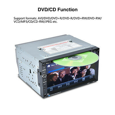 """Double 2Din 7"""" Car Stereo DVD CD MP3 Player HD In Dash Bluetooth Ipod TV Radio"""