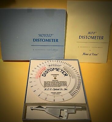 House of Vision Distometer measures vertex, HOVIS Swiss made, looks new with box