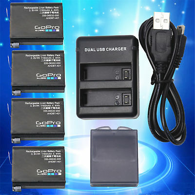 New Original Gopro AHDBT-401 battery Charger For Hero 4 HD Black Silver