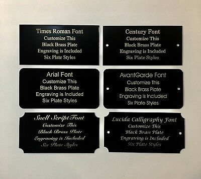 "3"" x 5"" Laser Engraved Black Brass Plate Custom Personalized Plaque-Trophy-Sign"