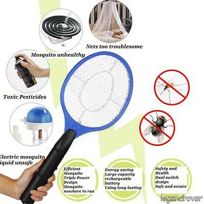 Electric Fly Insect Killer Racket Zapper Swatter Bug Mosquito Wasp Electronic