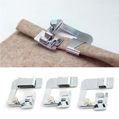 Domestic Sewing Machine Foot Presser Rolled Hem Feet Set for Brother Singer