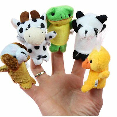 10 Pcs Family Finger Animal Puppets Cloth Doll Baby Educational Hand Cartoon Toy