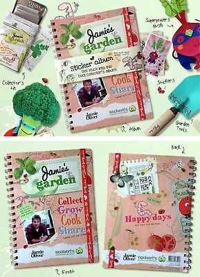Jamie's Garden Stickers 100s Available (Stickers only, no book) Combined Postage
