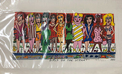 "James Rizzi 3D ""girls On The Street"" 1990 - 83 / 350 - Ungerahmt In Folie"