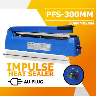 PFS-300mm Impulse Heat Sealer Poly Kraft Bag Electric Plastic Sealing Machine