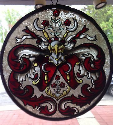 Stained Glass Flue Cover  (Reduced)  (B 1124)