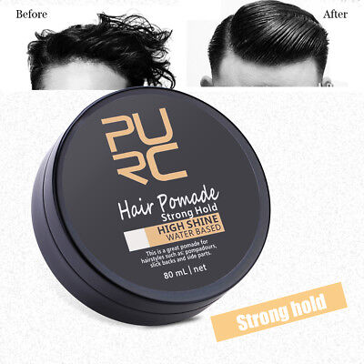 Men Hair Oil Wax Hair Styling Gel Retro Modeling Bright Strong Hold Pomade JS