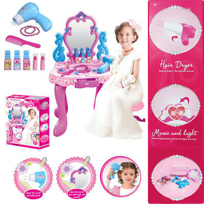 Kiddi Style Princess Dressing Table Stool Girls Kids Dress Make Up Vanity NEW