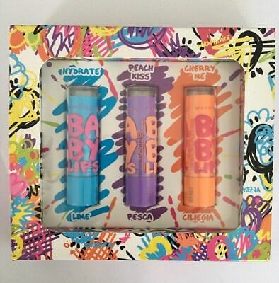 Maybelline Baby Lips Gift Set 3 Pezzi - Lime Pesca Ciliegia
