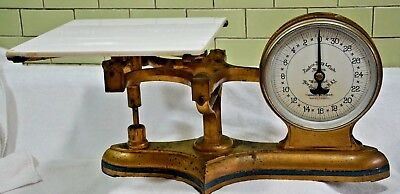 """Vintage  Landers Frary & Clark 32 LBS PASTRY Scale 21""""X11""""X9.5""""- Double Sided"""