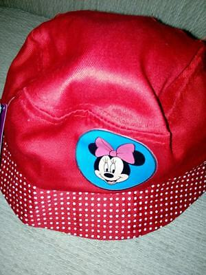 Minnie Mouse Licensed Red Dotty  Bucket Hat, Cap,  Disney, Brand New With Tags