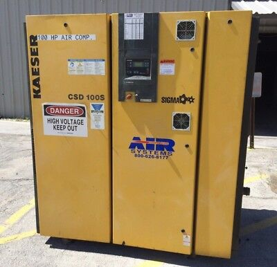 Kaeser 100Hp Air Compressor, Used Csd 100S, 13,081 Hours Loaded, Good Condition