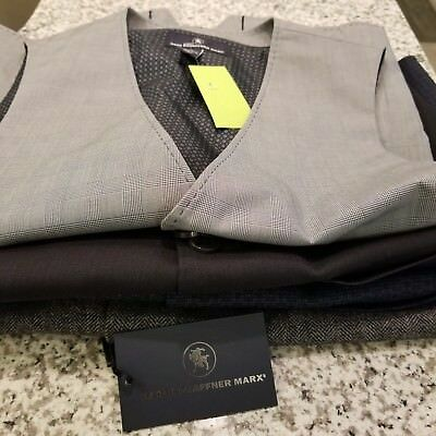 NEW Men's HART SCHAFFNER MARX Dress Suit Vest S M L XL Navy Grey Black White