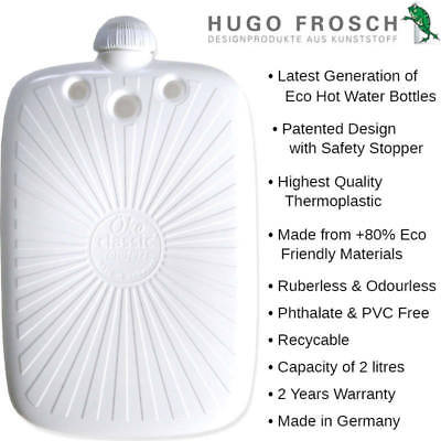 Hugo Frosch ECO Hot Water Bottle 2L - Made in Germany