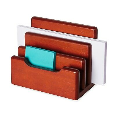 Wood Desktop Sorter Organizer Storage Hold Message Mail Stationery Home Office