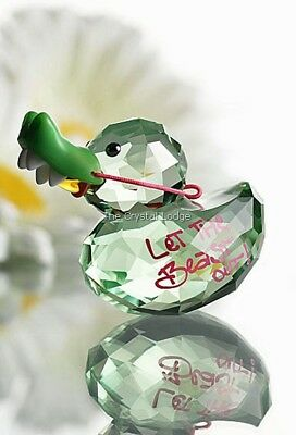 Swarovski Crystal Lovlot Happy Duck Crocodile Duck 1143324 Mint Boxed Retired