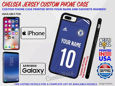 CHELSEA Custom Jersey Phone Case iPhone & Samsung UEFA Soccer - With your Name #