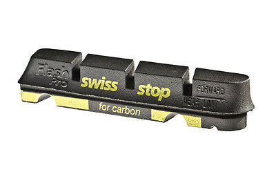 SwissStop - Pattini freno FLASH PRO Black Prince cerchioni in carbonio + OMAGGIO