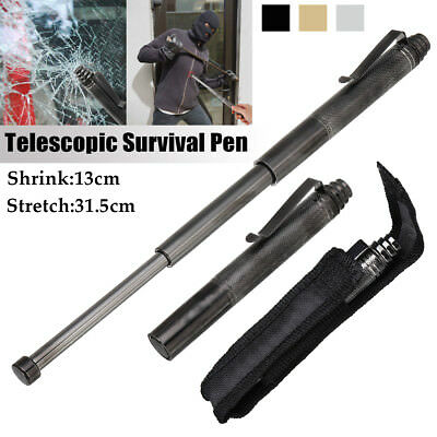 Tactical Survival Pen Telescopic Tool  Outdoor Self Protection Window Breaking