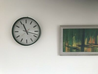 Vintage Industrial Office C1979 SMITHS Braidwood Wall Clock - Govt Issue