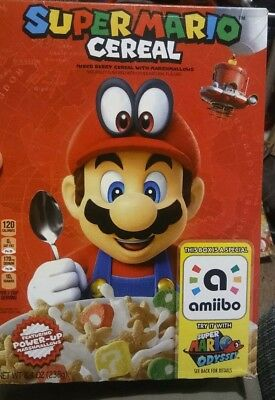 Super Mario Odyssey Cereal Limited Edition Nintendo Amiibo Ready To Ship!