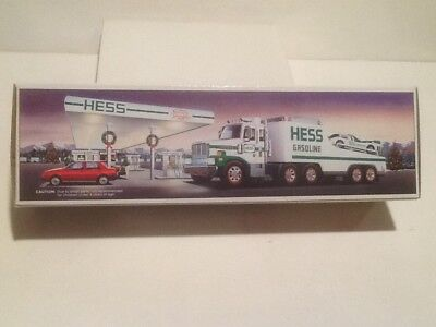 HESS 1988 Toy Truck and Racer Race Car with Box