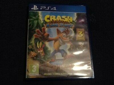 Crash Bandicoot N. Sane Trilogy (PS4) CASE & SLEEVE ONLY --- (NO GAME)
