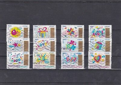 France 2017 Timbres A Gratter Serie Complete De 12 Timbres Obliteres