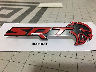 Dodge CHALLENGER Hellcat SRT Grill Emblem Overlay Decal 2018 ONLY
