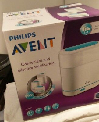 Philips AVENT 3-in-1 Electric Steam Baby Steriliser Set/Kit. Excellent condition