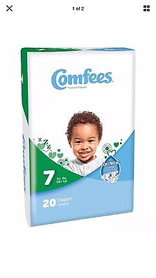 Comfees Baby Diapers Size 7 (41+ lb / 19+kg) 1 case (80 diapers )