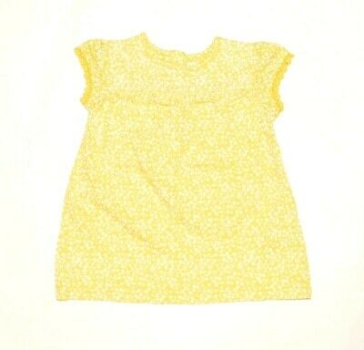 Baby Girls Ex Marks /& Spencer M/&S Yellow Ditsy Floral Jersey Dress Ages 0-18 M